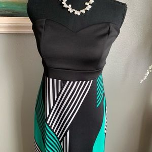 Charlotte Russe Long Strapless Dress Size M